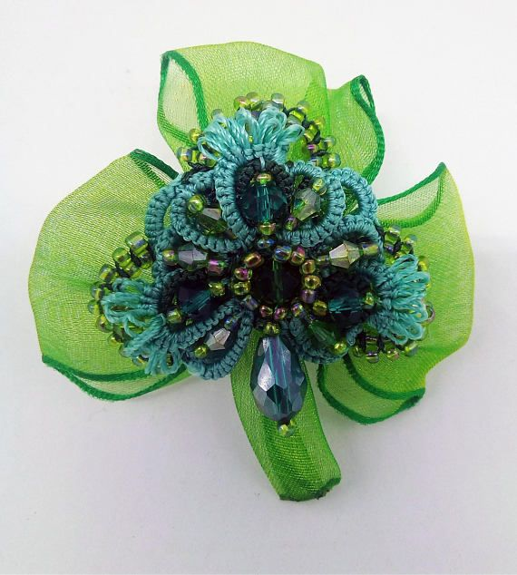 Paddy's day St Patrick Day Leaf Clover Charm Brooch lucky