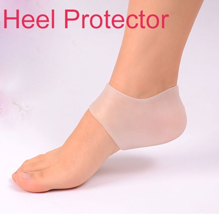 1 Pair Feet Care Heels Protector Medical Silica Gel Relieve High Heels Pain Crack Moisturizing Whitening Pedicure Socks 2017 New #Affiliate