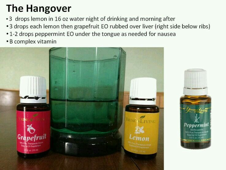 Oils for hangover