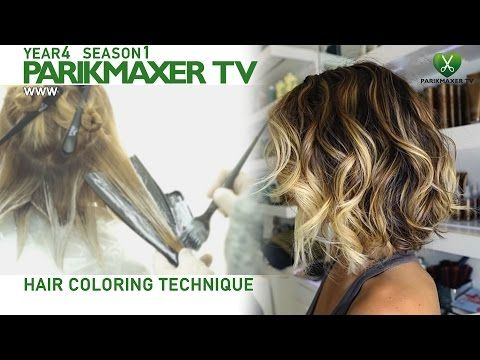 Техника нанесения блондора. How to color hair in blonde парикмахер тв parikmaxer.tv - YouTube