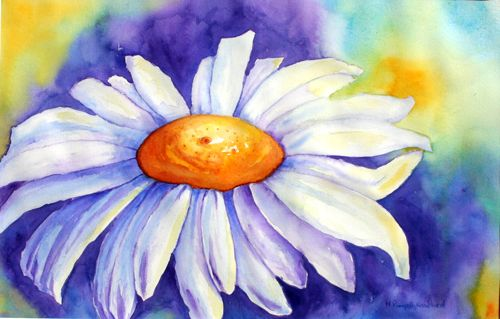 """Daisy - 15""""x22"""" - Watercolour by Mary Pumpelly-Knowland - $600 framed www.maryknowland.com Prints and cards also available"""