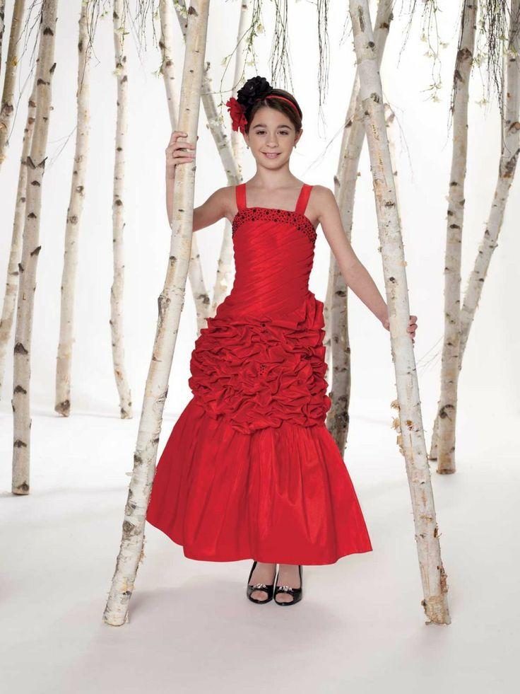 Joan calabrese 211327 tween dress size 12 red blush for Wedding dresses for tweens
