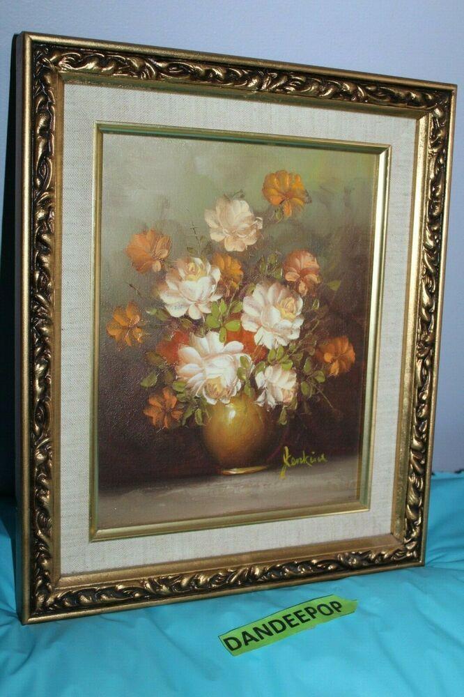 Floral Arrangement Oil On Canvas Framed Cosmopolitan Art Gallery