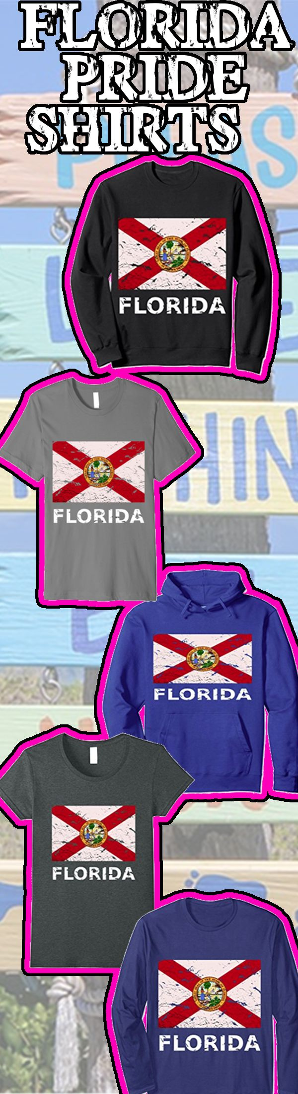 #florida #floridastrong Get your florida state flag shirt on amazon now to show your love of the state! No matter where you live we all love florida! Free shipping with Prime
