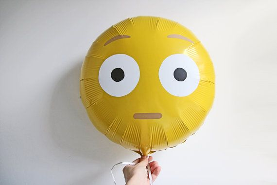 Shocked Emoji Balloon 18 Yellow Foil Party by ThePartyEdit