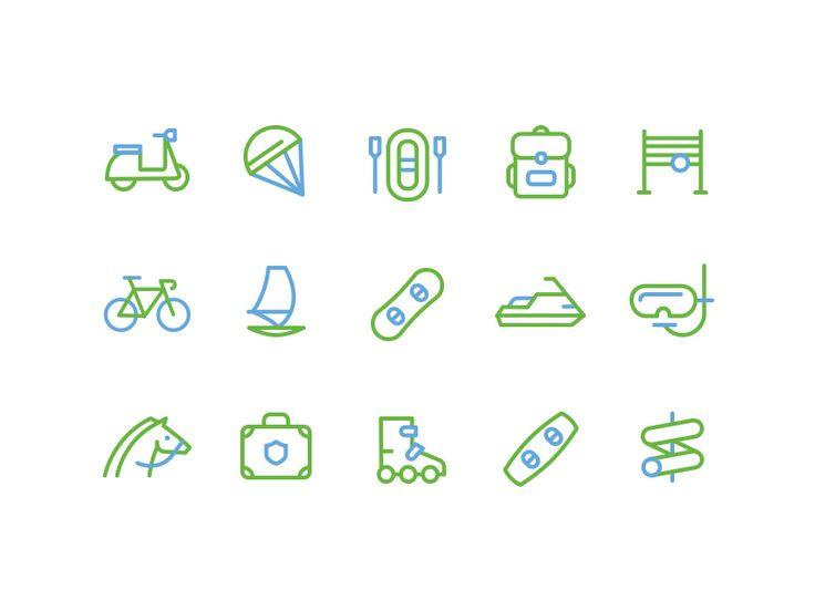 Sports icons by Alex Lafaki