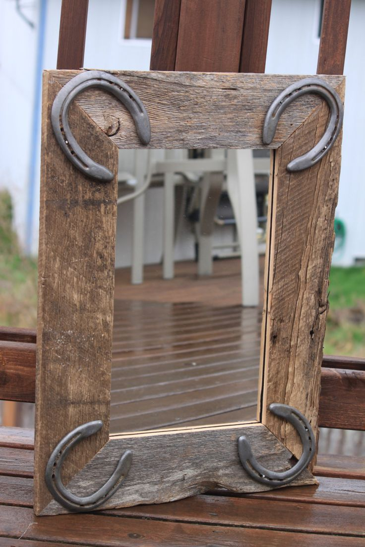 Rustic Wall Mirror for horse lovers western