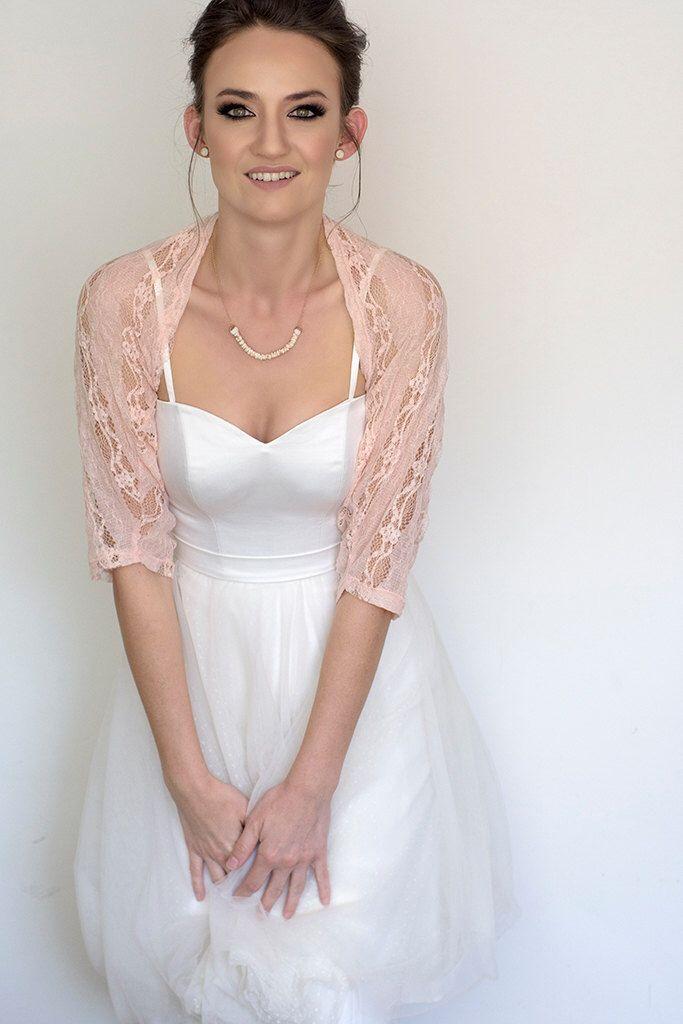 f84f55f165 Rose quartz lace shrug, bridal shrug, floral wedding bolero, lace shawl  cover up, pink wedding accessories   handmade on etsy   Bridal cover up,  Lace shrug, ...