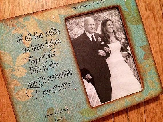 Father Gift To Daughter On Wedding Day: Father Daughter Wedding Walking Down Aisle Frame. Gift For
