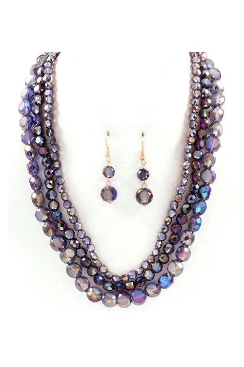 Crystal Anna Necklace in Amethyst Vitrail