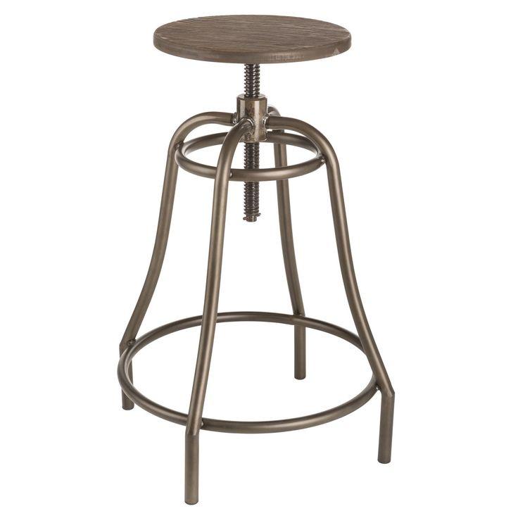 Sunpan 'Urban Unity' Collette Adjustable Bar Stool (Adjustable Barstool), Brown (Metal)