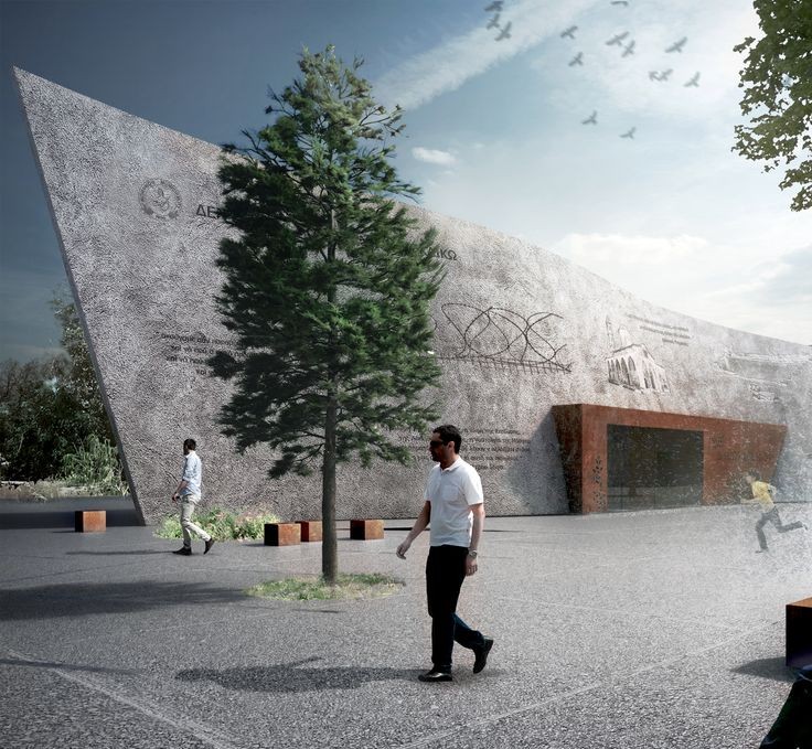 Competition entry for a cultural center-hall of Morphou in Nicosia | Cyprus 2012