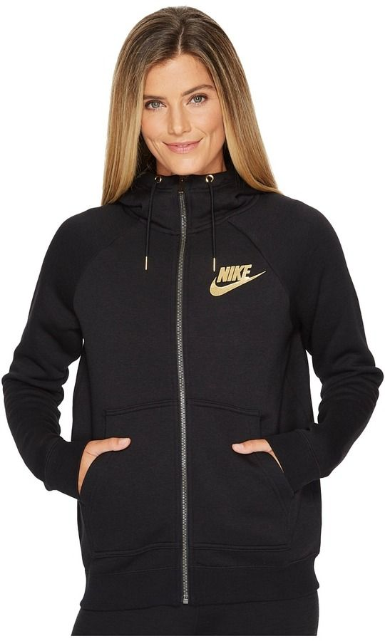 bf43d543e5ee Nike - Sportswear Rally Metallic Full-Zip Hoodie Women's Sweatshirt #ad  activewear #womensstyle #hoodie #nike #sweatshirt
