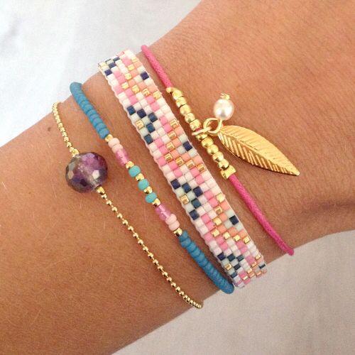 Bracelet stack - arm candy bracelets - wrist party - colorful hippie accessories