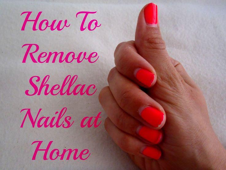 how to reomve Shellac nails / Gel nail polish at Home .