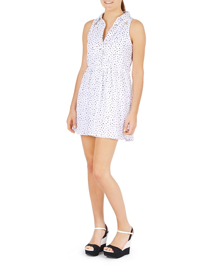 Heart print button-up dress -  Have this one too!