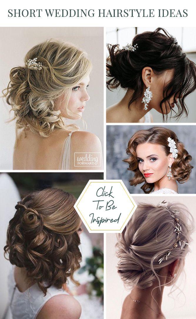 48 Trendiest Short Wedding Hairstyle Ideas Wedding Forward In 2020 Short Wedding Hair Hair Styles Wedding Hairstyles