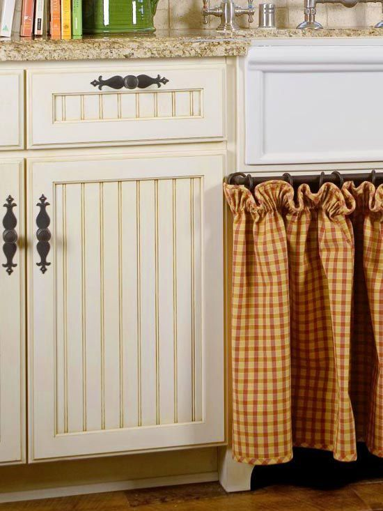 17 Best images about Conserve w/ Cabinet Curtains on Pinterest ...