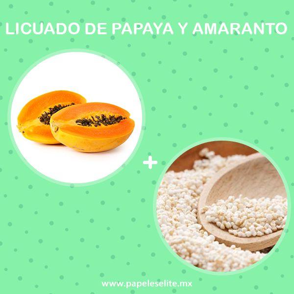 El licuado de papaya y amaranto contiene papaína, la cual mejora el funcionamiento del sistema digestivo. ¡Pruébalo!  Solo necesitas:  -Papaya -Amaranto -Leche al gusto  ¡Licua todo y listo!