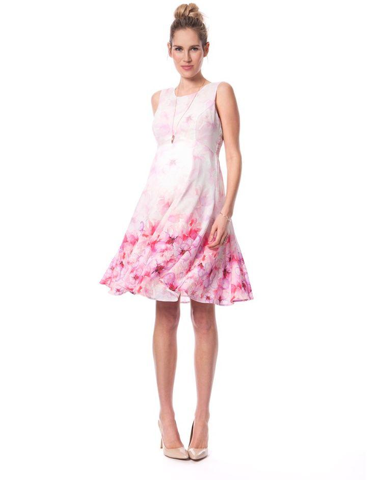Pink Blossom Maternity Dress   Seraphine Pink maternity dress - love maternity fashion #stylethebump #pink