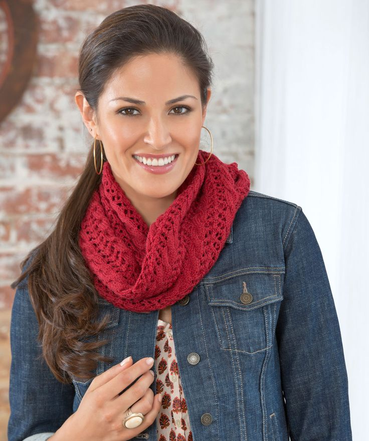 Lovely and lacy, this beautiful cowl adds an elegant touch to even the most casual outfit while keeping you warm when the cold winds blow.