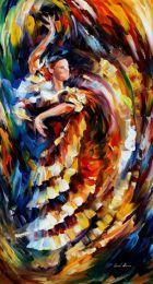 Tutkulu Flamenko Dansı Modern Tablolar - mdr 10277
