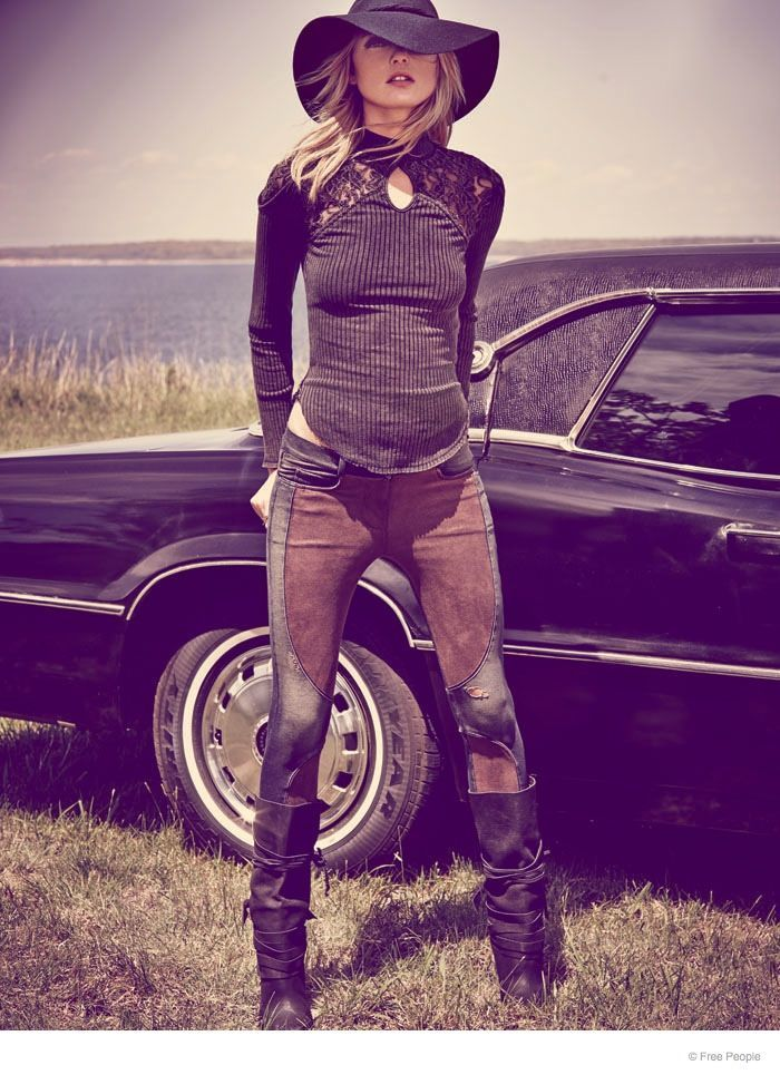 Dark Bohemian Fashion - The Easy Rider Photoshoot for Free People Stars Martha Hunt (GALLERY)