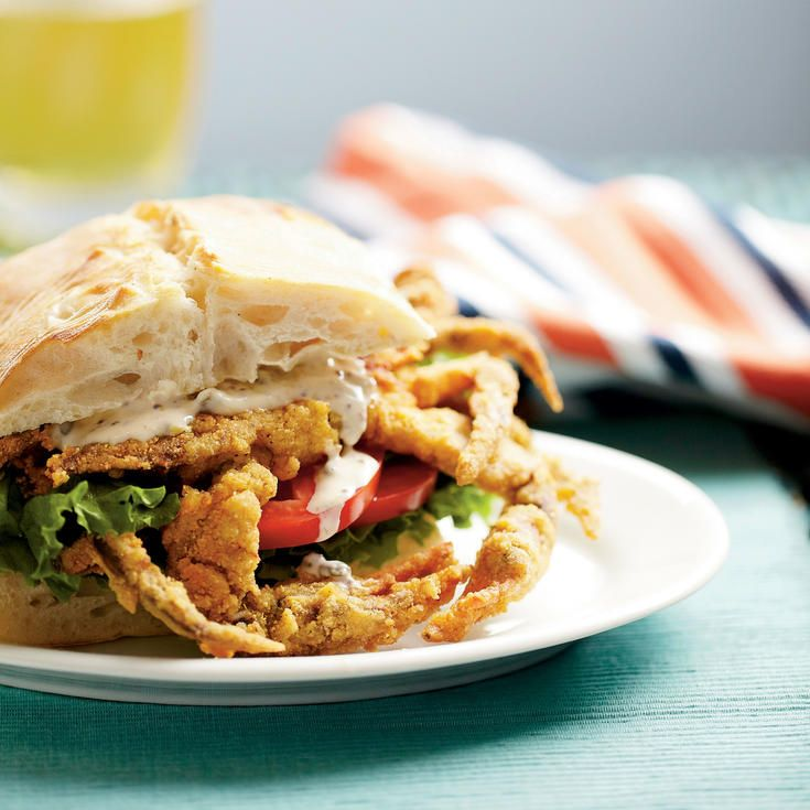 Soft-Shell Crab Sandwiches with Spicy Rémoulade - 39 Mouth-Watering Crab Recipes - Coastal Living
