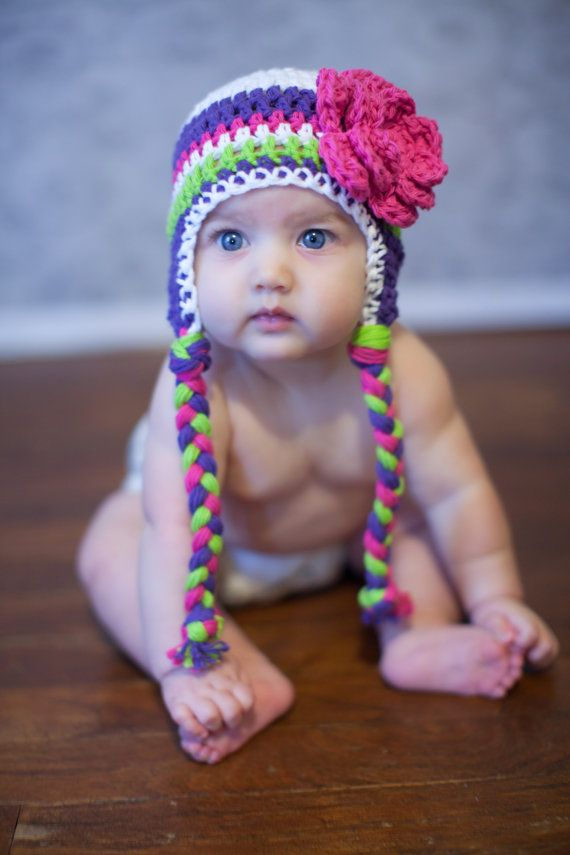 toddler girl hat crochet hat for toddlers by VioletandSassafras, $20.00