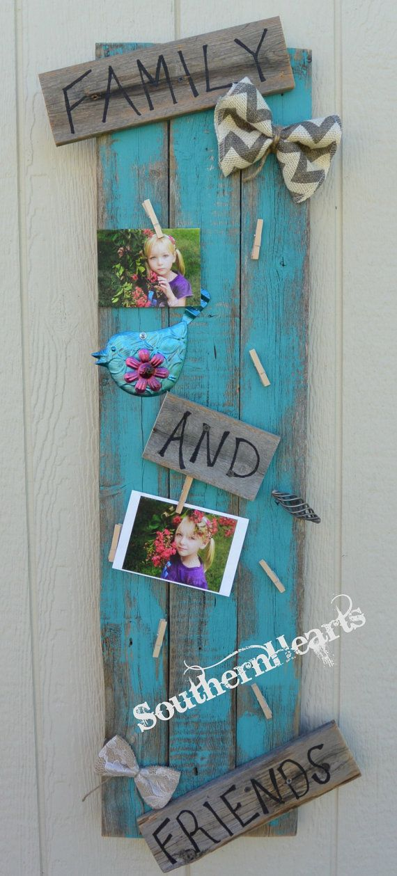 Display Pics at your wedding! Family and Friend Clothes Pin Picture by SouthernHeartsHome