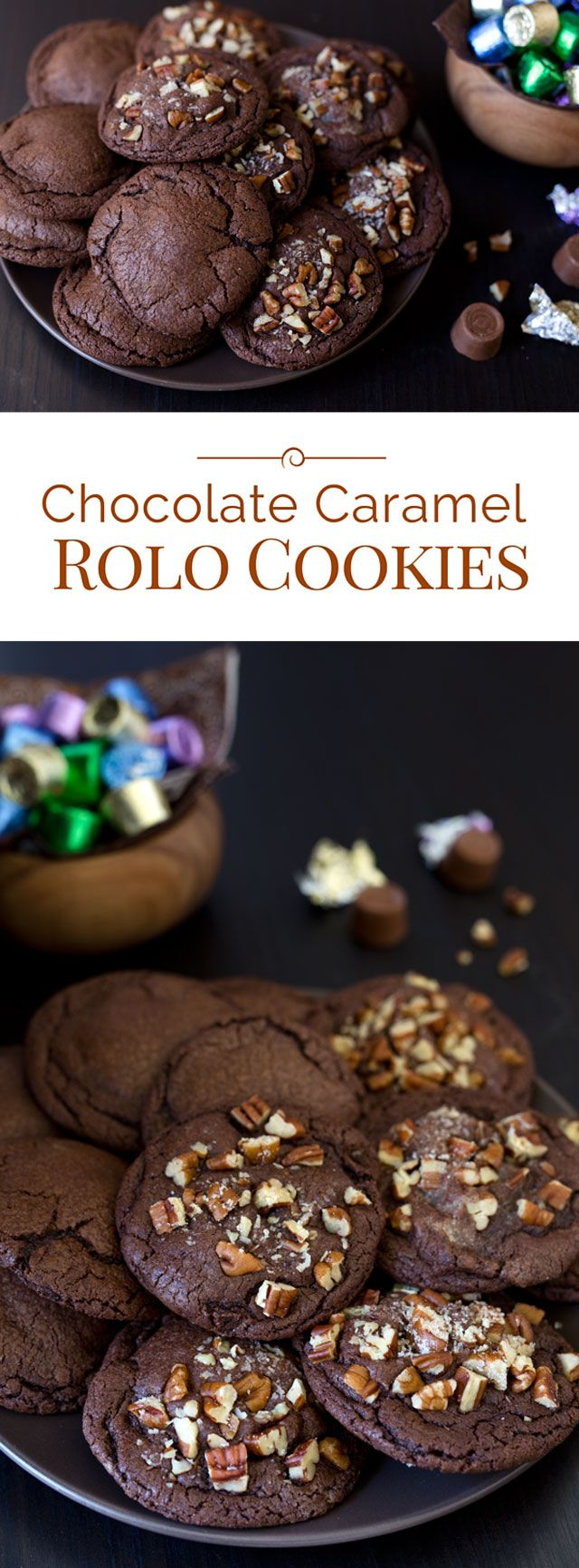 These prize-winning Chocolate Caramel Rolo Cookies are a family favorite. They're an easy to make, rich, fudgy chocolate cookie stuffed with a Rolo candy.