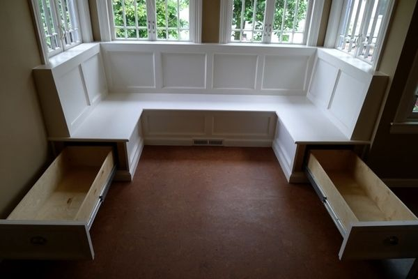 Keeping this as an idea for under-bench storage if we ever do bench/banquette seating in our kitchen.