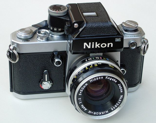 Nikon F2 Photomic 35mm SLR Camera & Nikkor H 50mm F2 Lens by clicks_1000 (Away...), via Flickr