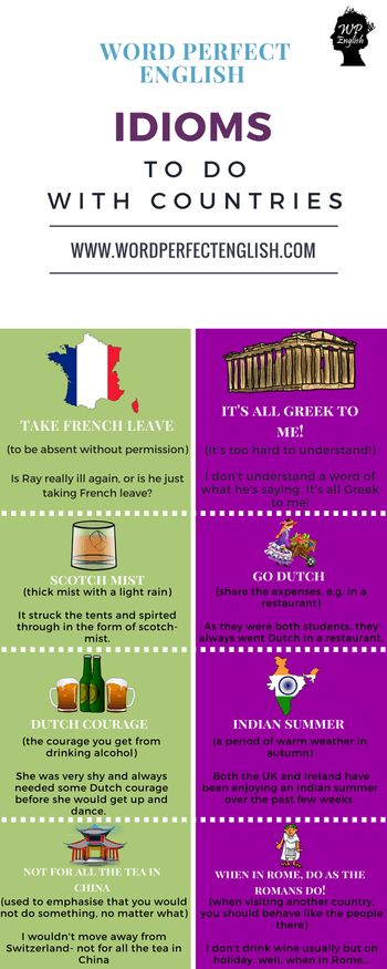 idioms for countries