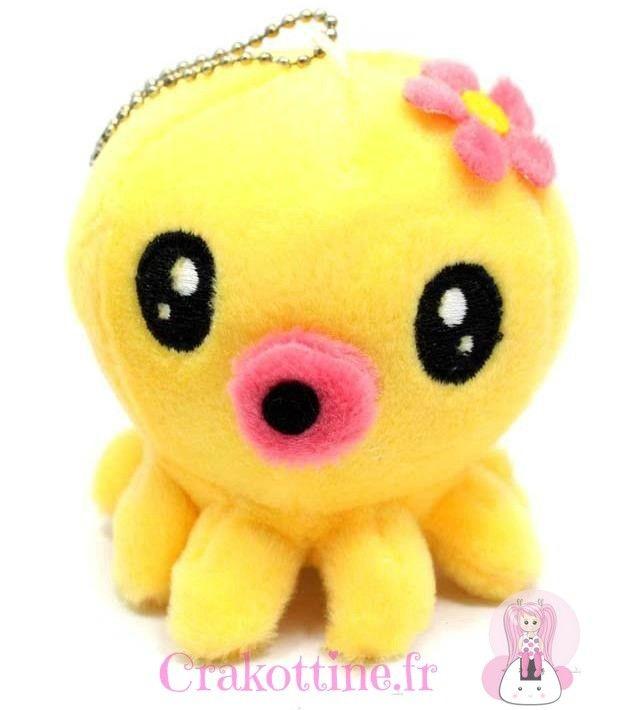 Peluche Yellow Poulpy Kawaii