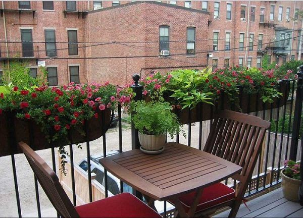 Place a small table with two chairs, so that in warm and favorable days, you can…