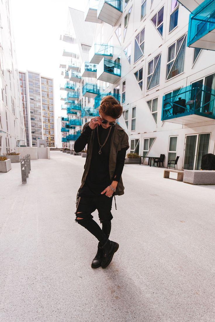 Army & Black  #SimonStroem #Fashion #Denmark
