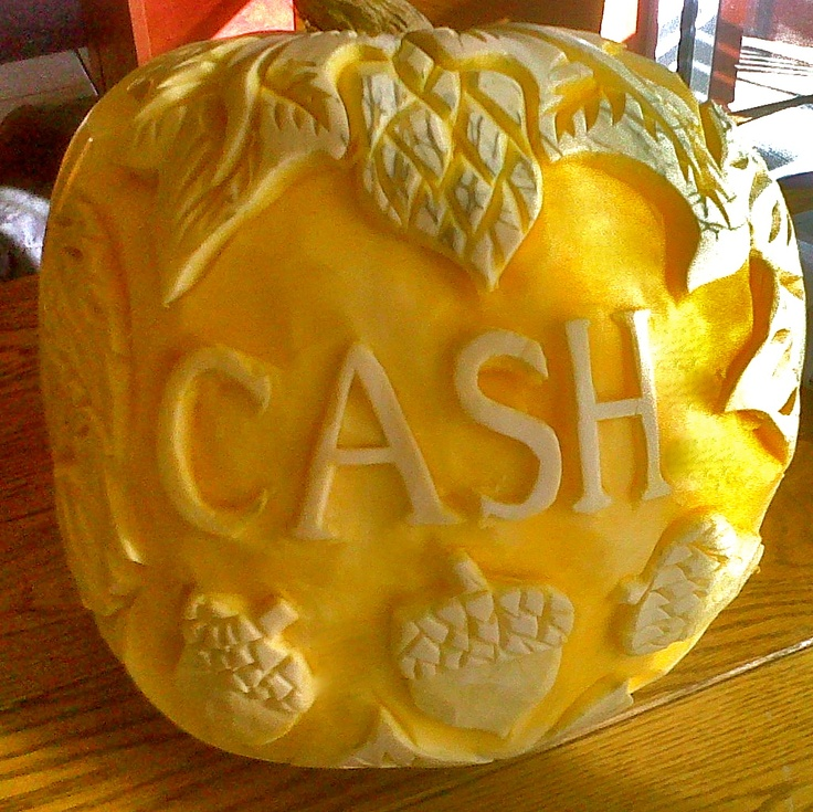 For a wedding reception centerpiece this was carved