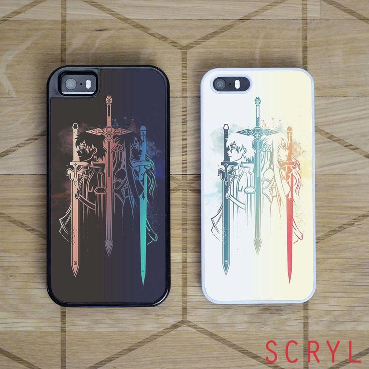 Sword Art Online Duo Asuna and Kirito | iPhone 4/4S, iPhone 5/5S/5C, iPhone 6 + 6 Plus Case | Samsung S5 S6 Edge Cases (Black/White) - iPhone - Samsung Cover