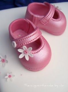 4 Goodness Cake!: Baby Shoe Template