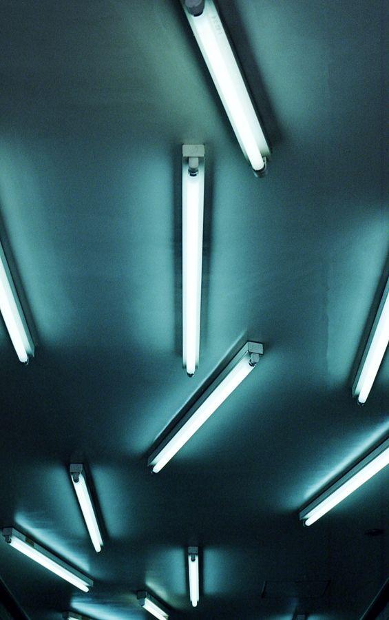 Irregular Fluorescent Tube Lighting, No Shape + No Shade