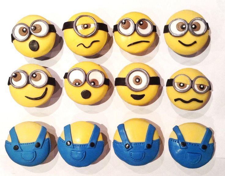 Despicable me cupcakes. minion cupcakes !! www.sugar-coated.com.au