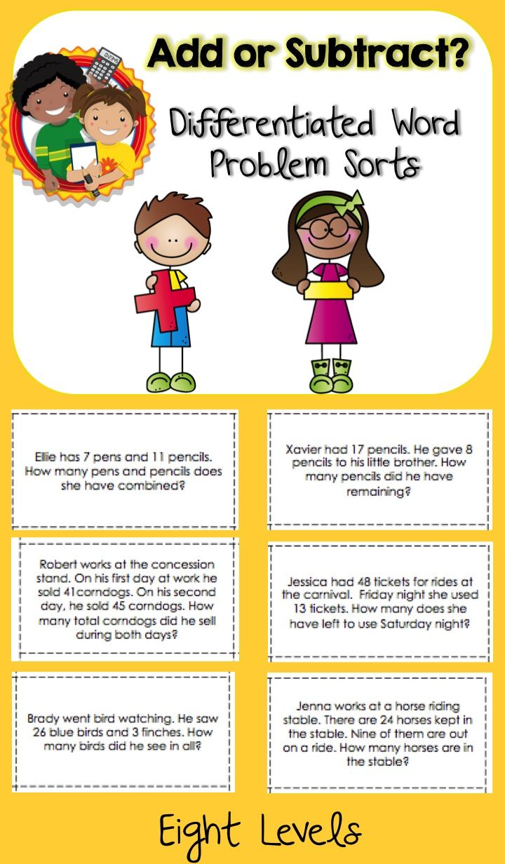 Worksheet Different Words For Subtraction 1000 images about word problems on pinterest