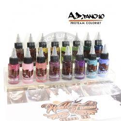 A.D. Pancho ProTeam Color Set WORLD FAMOUS INK - World Famous Ink - Colori Tatuaggi - Tattoo Supply: Ingrosso forniture per tatuatori firmato Micromutazioni