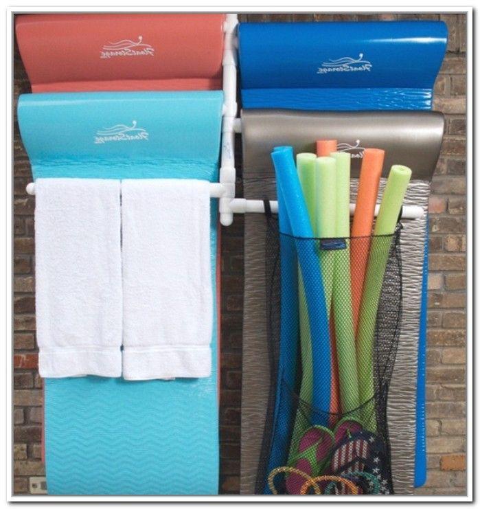 Pool Float Storage Ideas large elegant cast aluminum pool float storage holder by swc httpwww Pool Float Storage Diy