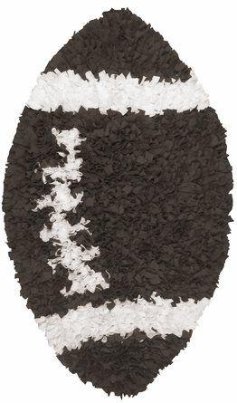 Shaggy Raggy Football Rug-Shaggy Raggy Football Rug,rug, nursery rugs, kids room rugs, the rug market, girls rugs, boys rugs, stylish rugs
