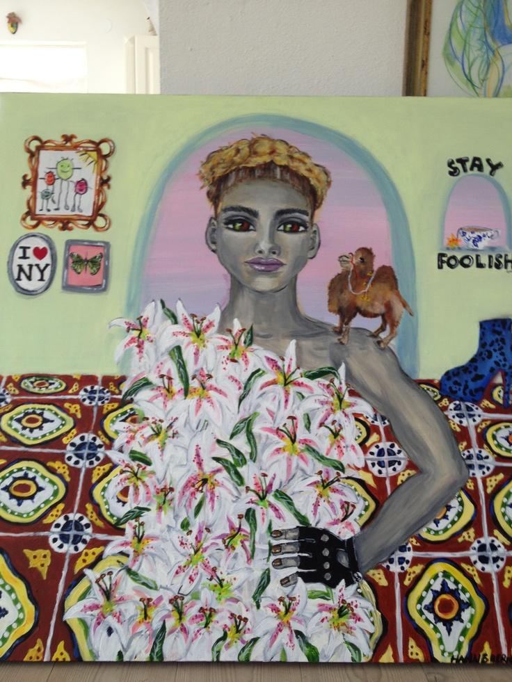 """Painting by Hanne Bernhoff Krook """" Let Me Be Myself"""""""