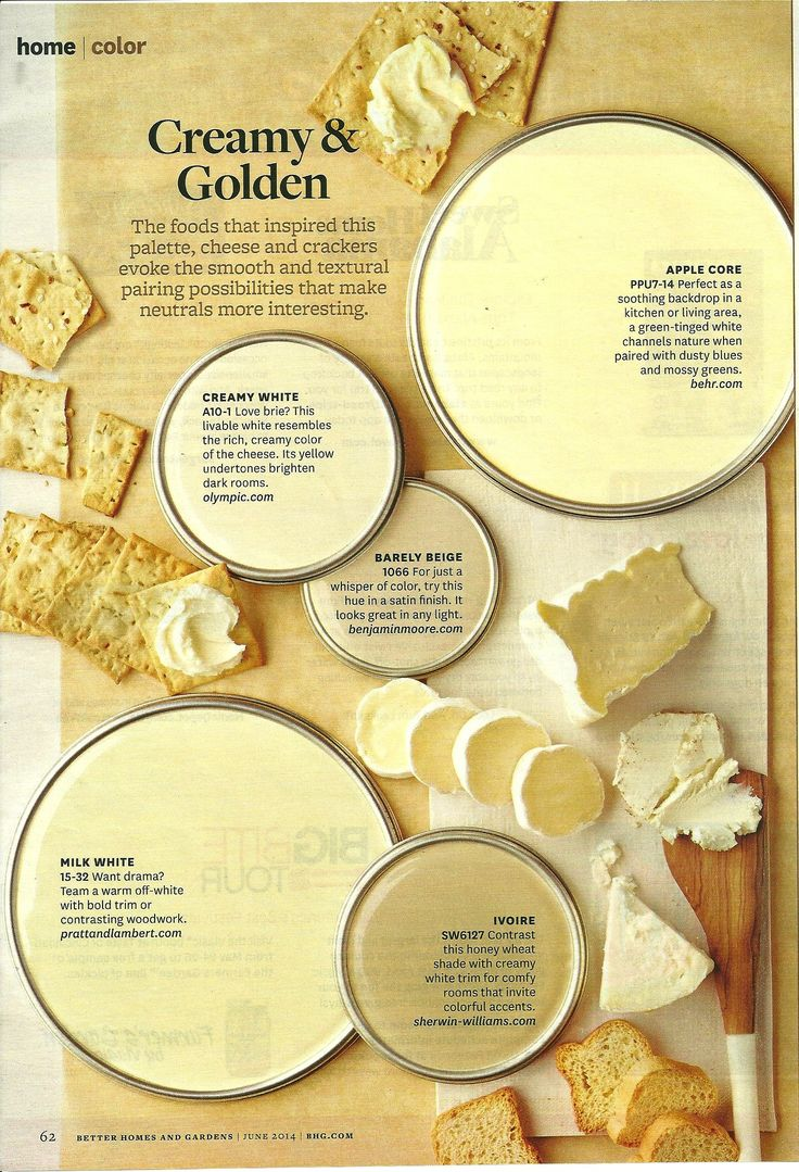 Cream and golden bhg color pinterest for Warm cream paint colors