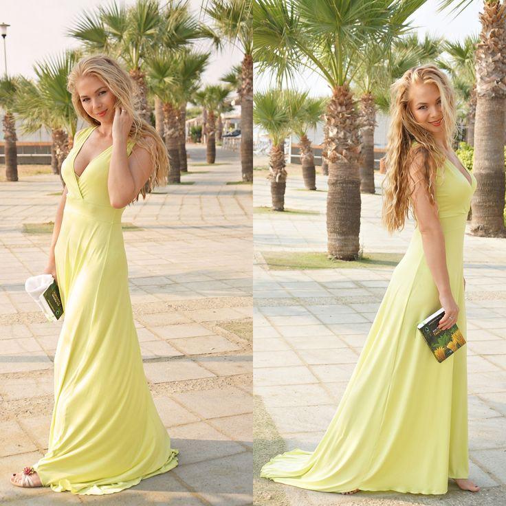 #maxi #maxidress #yellow #yellowdress #Larnaca #Cyprus #blondie #style #fashion