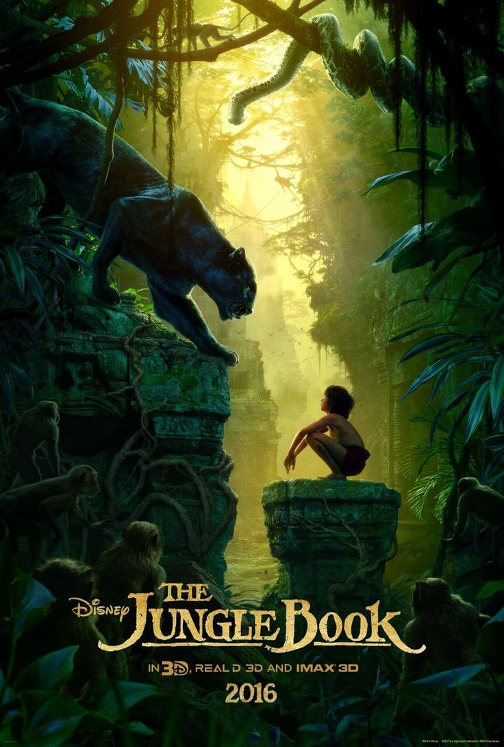 *THE JUNGLE BOOK ~ The brand new #JungleBook poster was just revealed at #D23Expo. See the film in theatres April 2016.